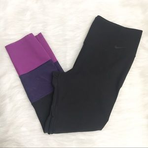 Nike Dri Fit Ten One Size Small Crop Mesh Leggings